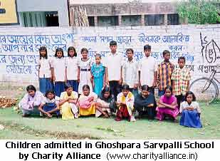 Children admitted in Ghoshpara Sarvpallischool by Charity Alliance