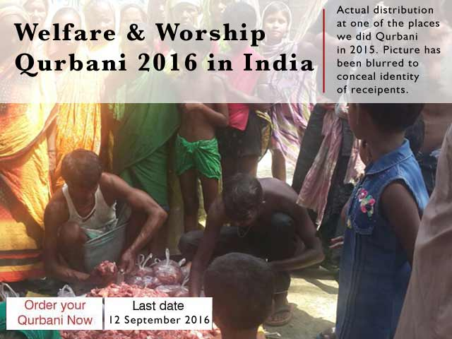 online qurbani india sacrifice muslims islam eid meat goat welfare food poor payment